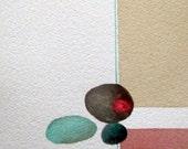 "Zen Impressions Series    "" Beach Pebbles""   - Original, One-of-a-Kind"