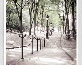 Paris photography - Montmartre steps II. - Paris photo,Art,Fine art photography,Paris decor,8x10 wall art,white,Fine art prints,Art Posters