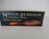 Vintage Hair Brush Box