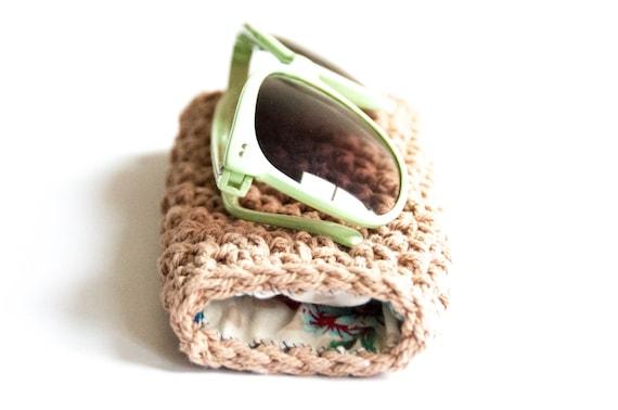 CROCHET PATTERN - DIY - sunglass case, sunglass pouch, spectacle case crochet pattern, glasses case crochet, reading glasses, sunglasses