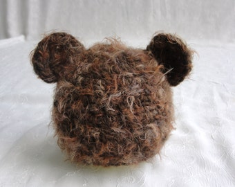 Newborn Baby Boy Teddy Bear Hat~Newborn Teddy Bear Hat Photo Prop~Fuzzy Newborn Teddy Bear Hat