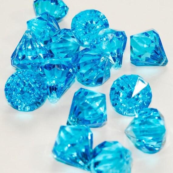 1 turquoise bleu acrylique polyvalente diamant. Black Bedroom Furniture Sets. Home Design Ideas