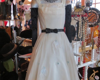 1950's Winter White Party Dress