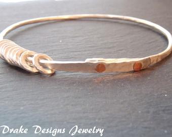Solid Sterling silver bangle bracelet jangle bangle