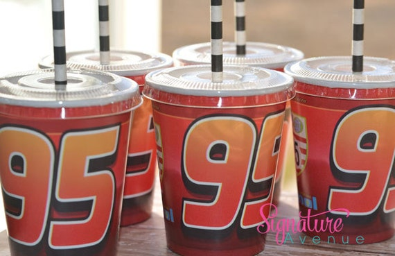 Disney Cars Birthday Party Cups-Set of 8