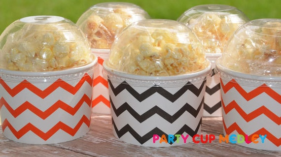Halloween Birthday Party-Ice Cream Cups-Mini Popcorn Favor Box-Set of 6