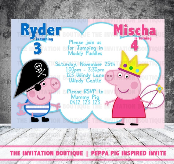Peppa Pig Invitation Template was Elegant Ideas To Create Perfect Invitations Sample