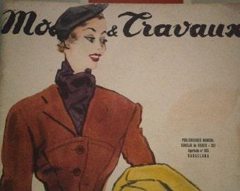 Vintage French 1952 Magazine Modes &Travaux
