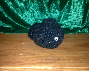 Crocheted Black Sparkly Fish