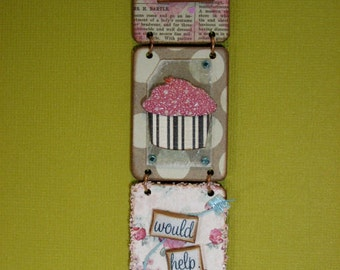 Maybe a Cupcake Would Help. - Triptych Wall Adornment