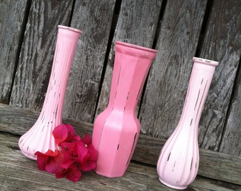 Mason jar vases Baby shower decor mismatch vases by ThePaintedLdy