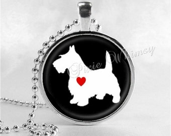 SCOTTIE Dog Necklace, Scottie Dog Jewelry, Scottish Terrier Jewelry, Scottie Dog, Scotty Dog, Dog Necklace, Glass Photo Art Pendant Necklace