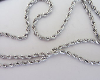 1 piece STAINLESS STEEL NECKLACE 20inches x 2mm wide