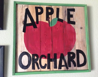 SALE!!! Apple orchard sign - Wall Art Decor - Home Decor