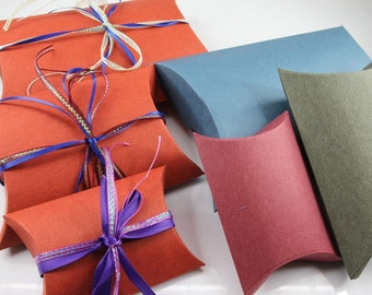 """50 Small Pillow Favor Gift Box 3.75"""" x  2.5"""" x  1"""" Wedding Party Box Gift"""