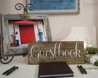 Guestbook Wooden Wedding Sign, Wedding Guest Book Sign, Wedding Signs IG-3