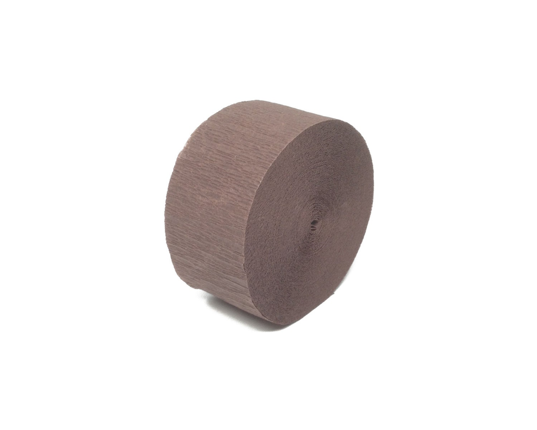 brown crepe paper streamer roll 81 feet long paper craft. Black Bedroom Furniture Sets. Home Design Ideas