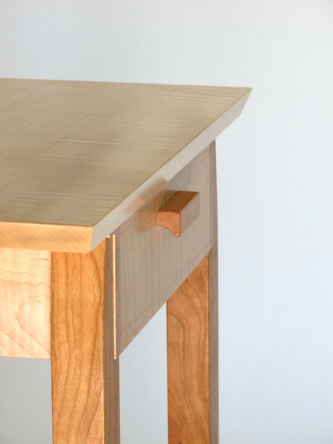 End Table With Drawer Tiger Maple Amp Cherry Narrow End Table