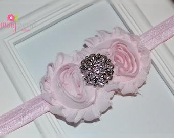 Light Pink Double Shabby Chic Headband