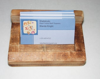 Display your business cards in this handsome but not too gaudy business card holder.We all need from time to time display