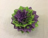 Purple and Green Paper Centerpiece