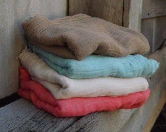 Set of 4 Cheesecloth baby & maternity wraps high grade, photography prop