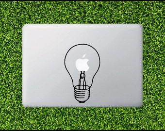 Light Bulb Decal - for Apple Macbook Laptop Decal MacBook Fun MacBook Sticker MacBook pro decal MacBook air sticker from commercial