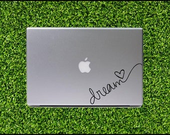 Dream Decal - for Apple Macbook Laptop Decal MacBook Monogram MacBook Sticker MacBook pro decal MacBook air sticker