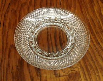 Vintage Glass Diamond Pattern Ashtray