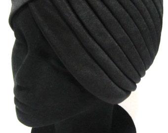 Black Turban - Black Headwrap - Hair Wrap