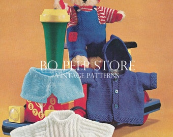 Teddy Bear Clothes DK knitting pattern [DOWNLOAD]