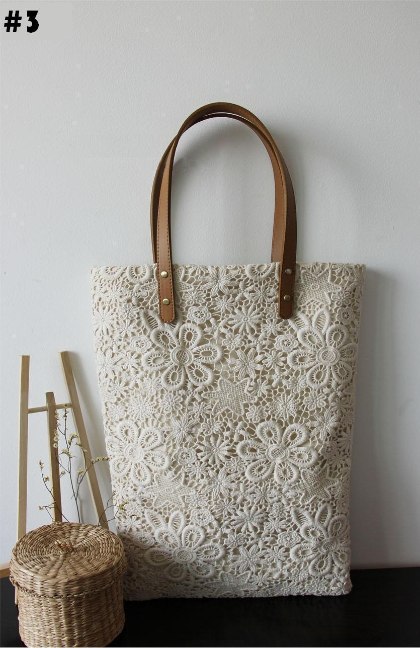 handmade la handmade shabby chic cotton wedding bag lace bag lace tote 5065