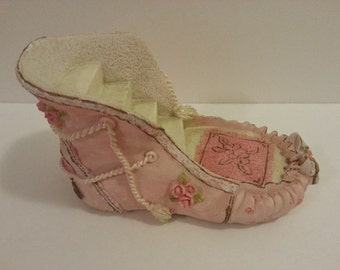 Pink Ballerina Slipper Coin Bank - made of a resin type of material