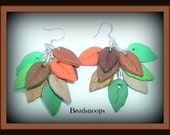 Falls changing colors-Polymer clay-(earrings)