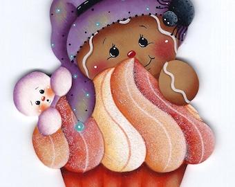 Halloween Cupcake Gingerbread Painting E-Pattern