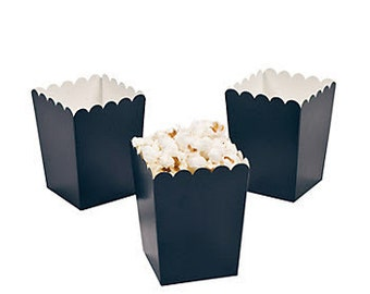 24 Mini navy popcorn boxes treat favors