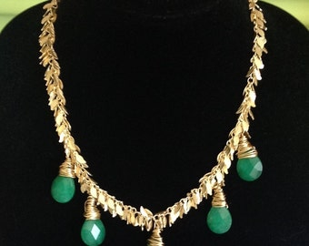 Jade Leaves Of Grass Necklace
