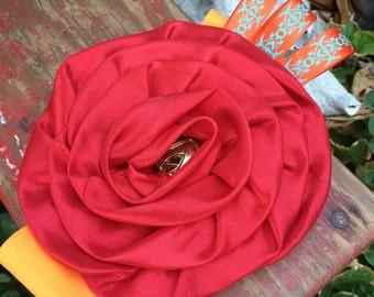 Scarlet O'Hara Gold And Orange Infant Headband