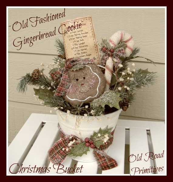 Primitive Gingerbread Pattern Old Fashioned Gingerbread Cookie ...