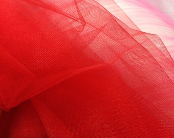 Red Sparkle Tulle Fabric (by the yard)