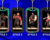 Custom Gamer Dog Tag - Team Fortress 2