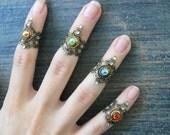 armor ring midi ring knuckle ring CHOOSE ONE  nail ring claw ring  finger tip ring  vampire goth victorian moon goddess pagan boho gypsy