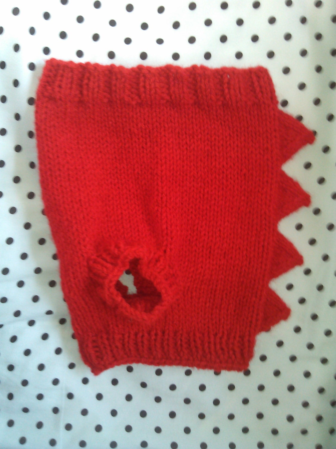 Hand Knit One-Size-Fits-Most Red Dinosaur Sweater for Cats or Small ...