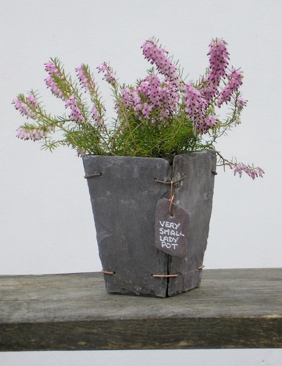 Slate Plant Pot Made From Reclaimed Welsh Slate Very Small