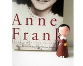 Anne Frank doll -Wooden doll -OOAK Art Doll -Collectible doll