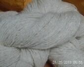Samoyed/Dorset -- Two ply, handspun yarn