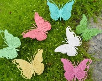 Monarch Sparkle Butterflies Set of 6