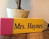 Teacher Appreciation Wooden Pencil~Personalized