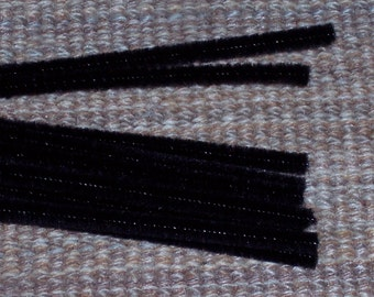 black chenille stems,6 mm x 12 inch,25/pkg,pipe cleaners,Halloween spiders,crafts,kids crafts