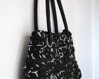 Black & grey felt bag